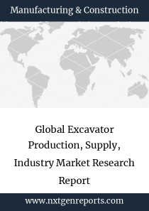 Global Excavator Production, Supply, Industry Market Research Report