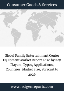 Global Family Entertainment Center Equipment Market Report 2020 by Key Players, Types, Applications, Countries, Market Size, Forecast to 2026