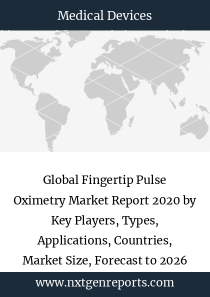 Global Fingertip Pulse Oximetry Market Report 2020 by Key Players, Types, Applications, Countries, Market Size, Forecast to 2026