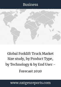 Global Forklift Truck Market Size study, by Product Type, by Technology & by End User - Forecast 2020