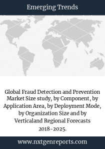 Global Fraud Detection and Prevention Market Size study, by Component, by Application Area, by Deployment Mode, by Organization Size and by Verticaland Regional Forecasts 2018-2025.