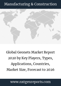 Global Geonets Market Report 2020 by Key Players, Types, Applications, Countries, Market Size, Forecast to 2026