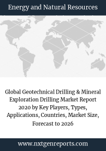 Global Geotechnical Drilling & Mineral Exploration Drilling Market Report 2020 by Key Players, Types, Applications, Countries, Market Size, Forecast to 2026
