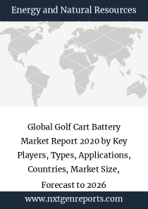 Global Golf Cart Battery Market Report 2020 by Key Players, Types, Applications, Countries, Market Size, Forecast to 2026