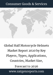Global Half Motorcycle Helmets Market Report 2020 by Key Players, Types, Applications, Countries, Market Size, Forecast to 2026