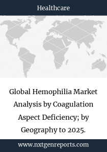 Global Hemophilia Market Analysis by Coagulation Aspect Deficiency; by Geography to 2025.