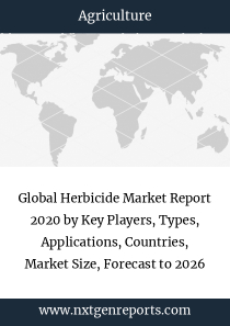 Global Herbicide Market Report 2020 by Key Players, Types, Applications, Countries, Market Size, Forecast to 2026