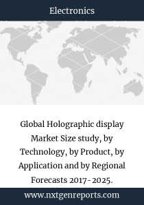 Global Holographic display Market Size study, by Technology, by Product, by Application and by Regional Forecasts 2017-2025.