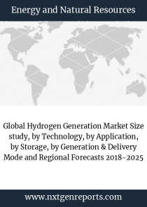 Global Hydrogen Generation Market Size study, by Technology, by Application, by Storage, by Generation & Delivery Mode and Regional Forecasts 2018-2025