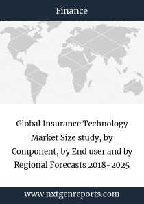 Global Insurance Technology Market Size study, by Component, by End user and by Regional Forecasts 2018-2025