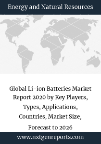 Global Li-ion Batteries Market Report 2020 by Key Players, Types, Applications, Countries, Market Size, Forecast to 2026