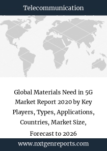 Global Materials Need in 5G Market Report 2020 by Key Players, Types, Applications, Countries, Market Size, Forecast to 2026
