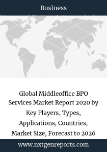 Global Middleoffice BPO Services Market Report 2020 by Key Players, Types, Applications, Countries, Market Size, Forecast to 2026