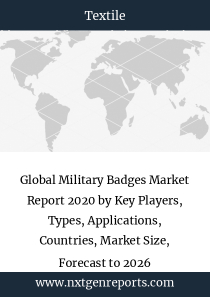 Global Military Badges Market Report 2020 by Key Players, Types, Applications, Countries, Market Size, Forecast to 2026