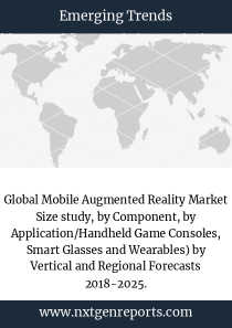 Global Mobile Augmented Reality Market Size study, by Component, by Application/Handheld Game Consoles, Smart Glasses and Wearables) by Vertical and Regional Forecasts 2018-2025.