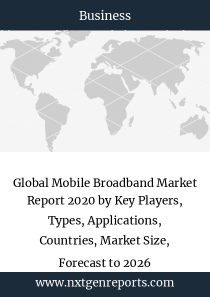 Global Mobile Broadband Market Report 2020 by Key Players, Types, Applications, Countries, Market Size, Forecast to 2026