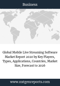 Global Mobile Live Streaming Software Market Report 2020 by Key Players, Types, Applications, Countries, Market Size, Forecast to 2026