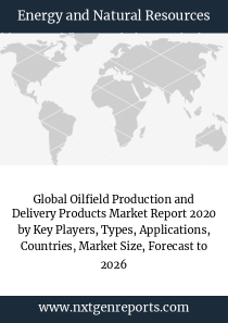 Global Oilfield Production and Delivery Products Market Report 2020 by Key Players, Types, Applications, Countries, Market Size, Forecast to 2026