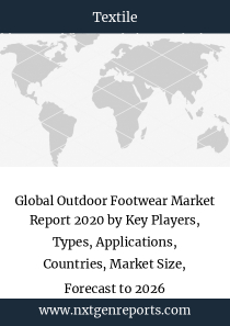 Global Outdoor Footwear Market Report 2020 by Key Players, Types, Applications, Countries, Market Size, Forecast to 2026