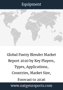 Global Pastry Blender Market Report 2020 by Key Players, Types, Applications, Countries, Market Size, Forecast to 2026