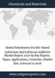 Global Polyolesters For Bio-Based Lubricants And Lubricant Additives Market Report 2020 by Key Players, Types, Applications, Countries, Market Size, Forecast to 2026