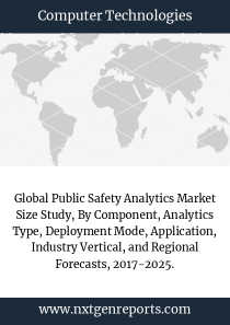 Global Public Safety Analytics Market Size Study, By Component, Analytics Type, Deployment Mode, Application, Industry Vertical, and Regional Forecasts, 2017-2025.