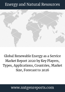 Global Renewable Energy as a Service Market Report 2020 by Key Players, Types, Applications, Countries, Market Size, Forecast to 2026