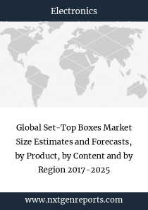 Global Set-Top Boxes Market Size Estimates and Forecasts, by Product, by Content and by Region 2017-2025