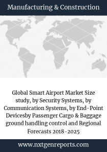 Global Smart Airport Market Size study, by Security Systems, by Communication Systems, by End-Point Devicesby Passenger Cargo & Baggage ground handling control and Regional Forecasts 2018-2025