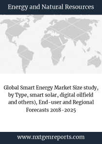 Global Smart Energy Market Size study, by Type, smart solar, digital oilfield and others), End-user and Regional Forecasts 2018-2025