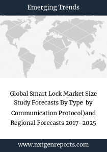 Global Smart Lock Market Size Study Forecasts By Type  by Communication Protocol)and Regional Forecasts 2017-2025