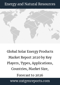 Global Solar Energy Products Market Report 2020 by Key Players, Types, Applications, Countries, Market Size, Forecast to 2026