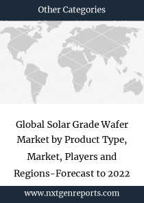 Global Solar Grade Wafer Market by Product Type, Market, Players and Regions-Forecast to 2022