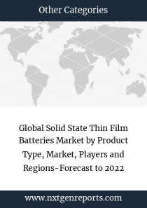 Global Solid State Thin Film Batteries Market by Product Type, Market, Players and Regions-Forecast to 2022
