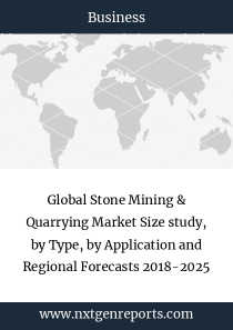 Global Stone Mining & Quarrying Market Size study, by Type, by Application and Regional Forecasts 2018-2025