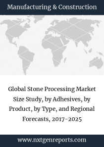Global Stone Processing Market Size Study, by Adhesives, by Product, by Type, and Regional Forecasts, 2017-2025