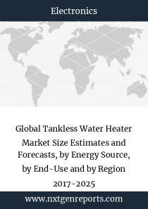 Global Tankless Water Heater Market Size Estimates and Forecasts, by Energy Source, by End-Use and by Region 2017-2025