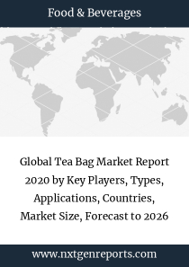 Global Tea Bag Market Report 2020 by Key Players, Types, Applications, Countries, Market Size, Forecast to 2026
