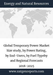 Global Temporary Power Market Size study, by Power Rating, by End-Users, by Fuel Typeby and Regional Forecasts 2018-2025