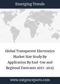 Global Transparent Electronics Market Size Study By Application By End-Use and Regional Forecasts 2017-2025