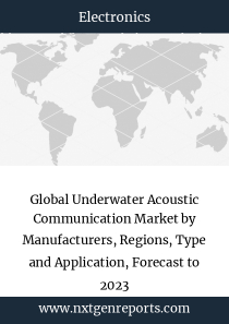 Global Underwater Acoustic Communication Market by Manufacturers, Regions, Type and Application, Forecast to 2023