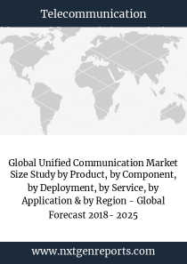 Global Unified Communication Market Size Study by Product, by Component, by Deployment, by Service, by Application & by Region - Global Forecast 2018- 2025