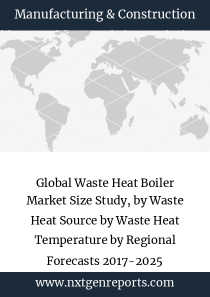 Global Waste Heat Boiler Market Size Study, by Waste Heat Source by Waste Heat Temperature by Regional Forecasts 2017-2025