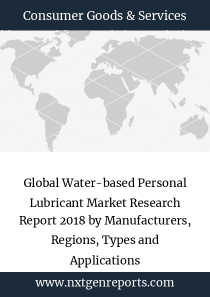 Global Water-based Personal Lubricant Market Research Report 2018 by Manufacturers, Regions, Types and Applications