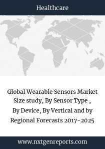 Global Wearable Sensors Market Size study, By Sensor Type , By Device, By Vertical and by Regional Forecasts 2017-2025