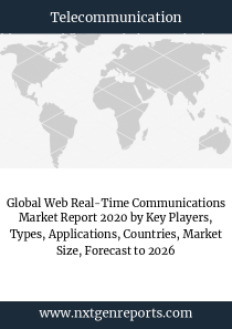 Global Web Real-Time Communications Market Report 2020 by Key Players, Types, Applications, Countries, Market Size, Forecast to 2026