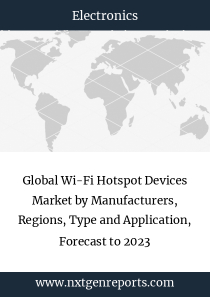 Global Wi-Fi Hotspot Devices Market by Manufacturers, Regions, Type and Application, Forecast to 2023