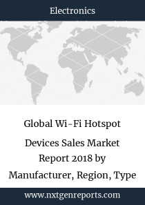Global Wi-Fi Hotspot Devices Sales Market Report 2018 by Manufacturer, Region, Type and Application