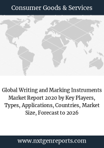 Global Writing and Marking Instruments Market Report 2020 by Key Players, Types, Applications, Countries, Market Size, Forecast to 2026