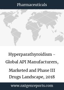 Hyperparathyroidism - Global API Manufacturers, Marketed and Phase III Drugs Landscape, 2018